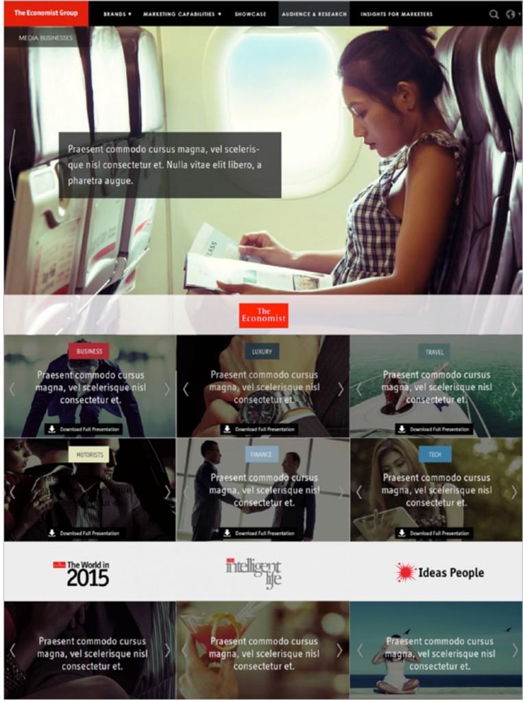 Economist media businesses website